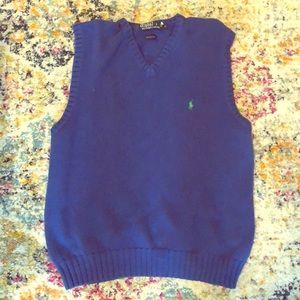 Polo Ralph Lauren 100% cotton blue sweater vest